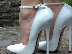 Bondage in high women heeled